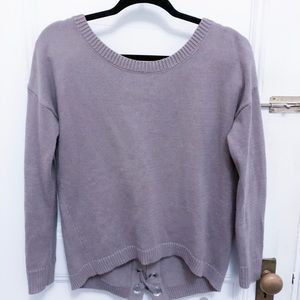 Cozy lace back Express sweater